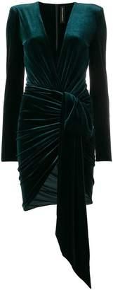 Alexandre Vauthier V-neck ruched mini dress