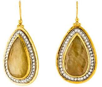 Gurhan Sapphire and Diamond Elements Teardrop Earrings