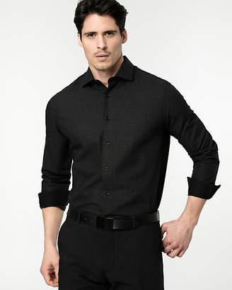 Le Château Dot Print Cotton Slim Fit Shirt