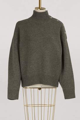 CLine High neck sweater in double face Shetland cashmere