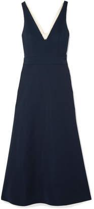 Bardot La Ligne Cutout Crepe Midi Dress - Navy