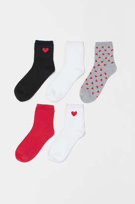 H&M 5-pack Socks - White
