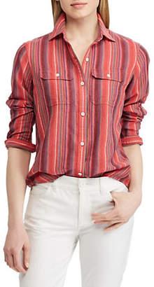 Chaps Striped Button-Down Shirt