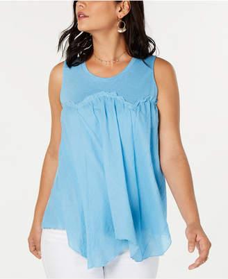 Style&Co. Style & Co Handkerchief-Hem Swing Top