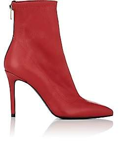 Barneys New York Women's Lula Leather Ankle Boots - Red