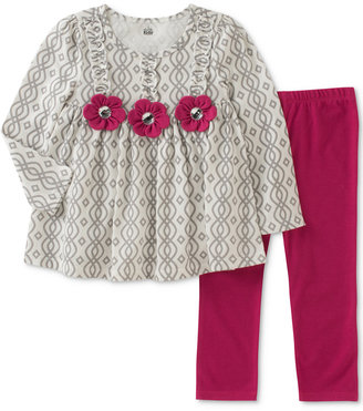 Kids Headquarters 2-Pc. Geo-Print Tunic & Leggings Set, Baby Girls (0-24 months) $36 thestylecure.com