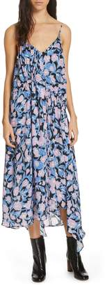 Christian Wijnants Dev Floral Print Silk Midi Dress