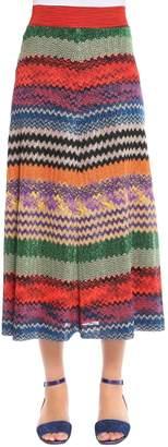 Missoni Lurex Zigzag Knit Midi Skirt