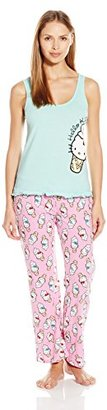 Hello Kitty Women's Candy Coated Pajama Set $36 thestylecure.com