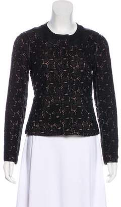 Diane von Furstenberg Zip-Up Lace Jacket