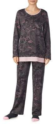 Ellen Tracy Two-Piece Printed Pajama Set