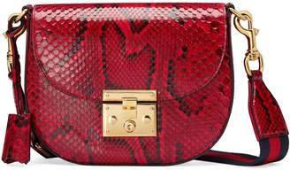 Gucci Medium Padlock - Genuine Python Shoulder Bag