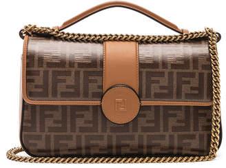 Fendi Double F Shoulder Bag in Tan | FWRD