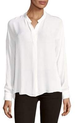 Vince Long-Sleeve Silk Blouse