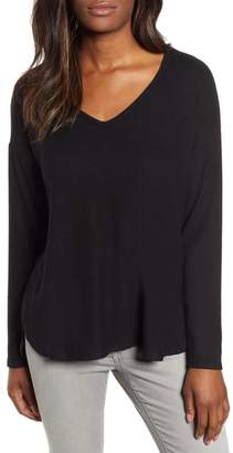Gibson Fleece V-Neck Top