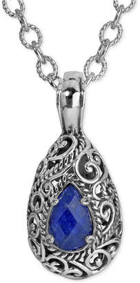 Lapis Carolyn Pollack Doublet Pendant Necklace (6 ct. t.w.) in Sterling Silver