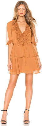 Shona Joy Puff Sleeve Mini Dress