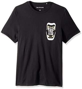 True Religion Men's Short Sleeve Metallic Teeth Tee2