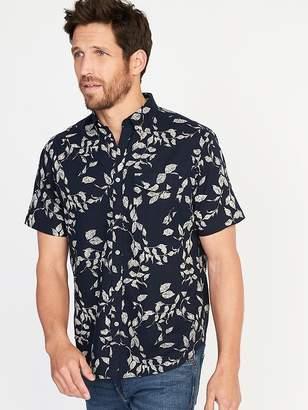 Old Navy Regular-Fit Linen-Blend Pocket Shirt for Men