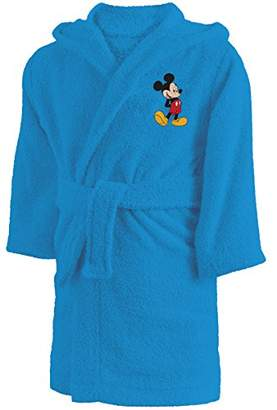 Disney Mickey 043222 Bathrobe Cotton Terry Towel, 6.8 Years approx 110 – 128 cm