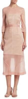 Victoria Beckham Organza A-Line Midi Dress