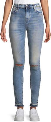 IRO Distressed High Waist Skinny Jean