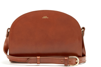 A.P.C. Half Moon leather cross-body bag $317 thestylecure.com