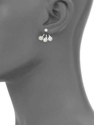 Ava & Aiden Silvertone Crystal Earrings