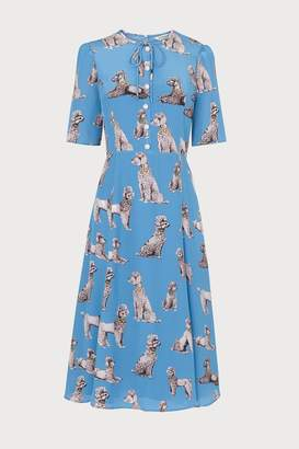 LK Bennett Womens L.K.Bennett Blue Crawford Silk Tea Dress - Blue