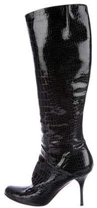 Giuseppe Zanotti Patent Leather Knee-High Boots