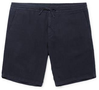 NN07 Emil Garment-Dyed Linen Drawstring Shorts
