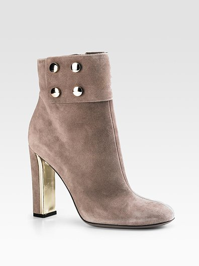 Gucci Audrey Suede Ankle Boots