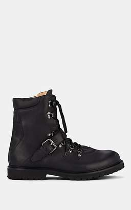 Barneys New York Men's Leather Lace-Up Ankle Boots - Black
