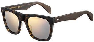 Rag & Bone Men's Rectangular Acetate Sunglasses