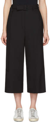 Neil Barrett Black Wide-Leg Cropped Trousers