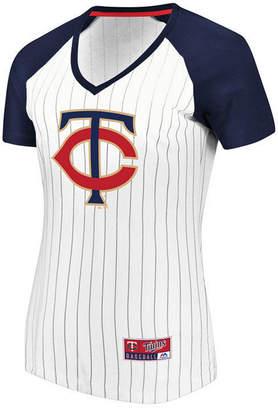 Majestic Women Minnesota Twins Every Aspect Pinstripe T-Shirt