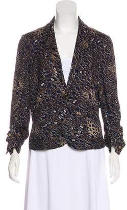 Tory Burch Printed Notched-Lapel Blazer