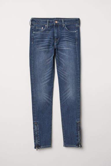 H&M - Skinny Regular Ankle Jeans - Blue