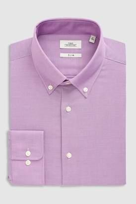 Next Mens White Regular Fit Short Sleeve Easy Care Oxford Shirt