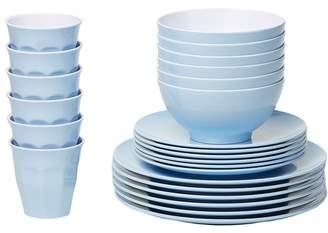 Blue Classic Melamine Dinner Set Number of Pieces: 48