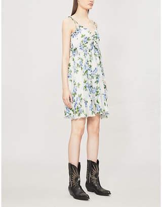 The Kooples Floral-print ruffled chiffon dress