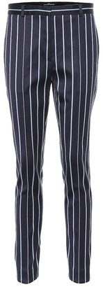 Rokh Striped wool and cotton pants