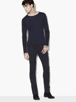 John Varvatos Long Sleeve Pima Cotton Crewneck