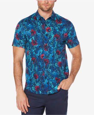 Cubavera Men's Big & Tall Floral Shirt