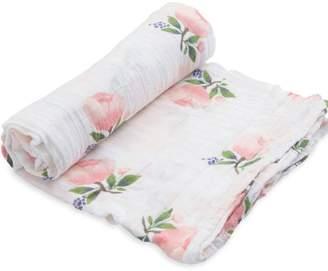 Little Unicorn Watercolor-Rose Cotton Swaddle