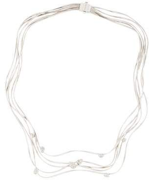 Marco Bicego 18K Multistrand Diamond Station Necklace