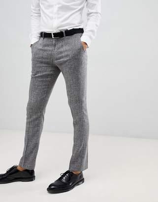 Farah Smart skinny pants in gray cross hatch