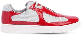 Prada America's Cup Metallic Leather Sneakers