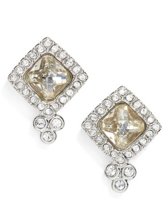 Women's Jenny Packham Glistening Shadows Cushion Stud Earrings $40 thestylecure.com