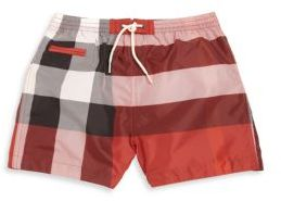 Burberry Baby's & Toddler's Check Swim Shorts $85 thestylecure.com